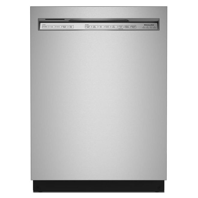 KitchenAid 39-Decibel Built-In Dishwasher with Pocket Handle - 24-in - Stainless Steel