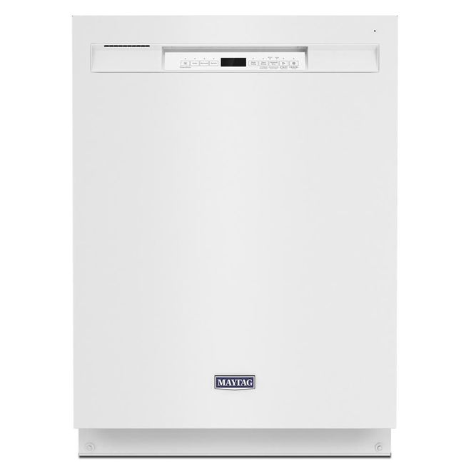 Maytag Built-In Dishwasher with PowerBlast(R) Cycle and Pocket Handle - 24-in - White
