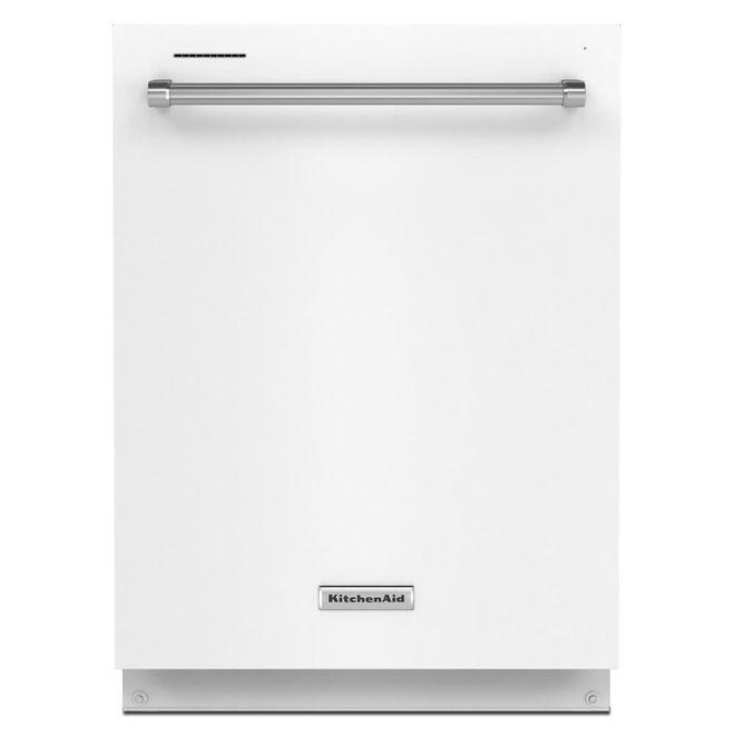 KitchenAid 39-Decibel Built-In Dishwasher with Hidden Controls - 24-in - White