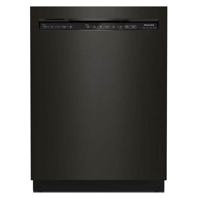 KitchenAid 39-Decibel Built-In Dishwasher with Pocket Handle - 24-in - Black Stainless Steel