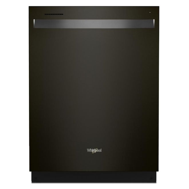 Whirlpool Built-In Dishwasher with Tall Tub and Third Rack - 24-in - Black Stainless Steel