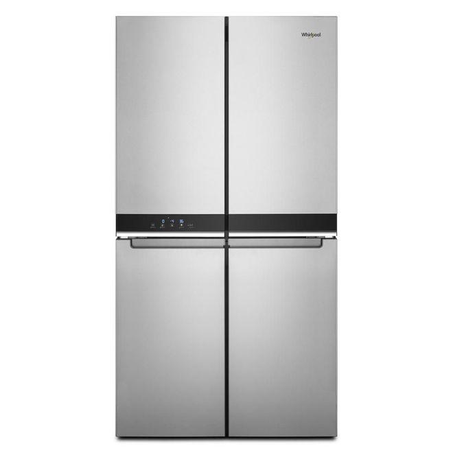 Whirlpool 4-Door Refrigerator - Counter Depth - 36-in - 19.4 cu. ft. - Steel