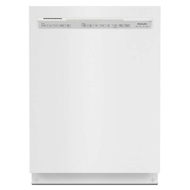 KitchenAid 39-Decibel Built-In Dishwasher with Pocket Handle - 24-in - White