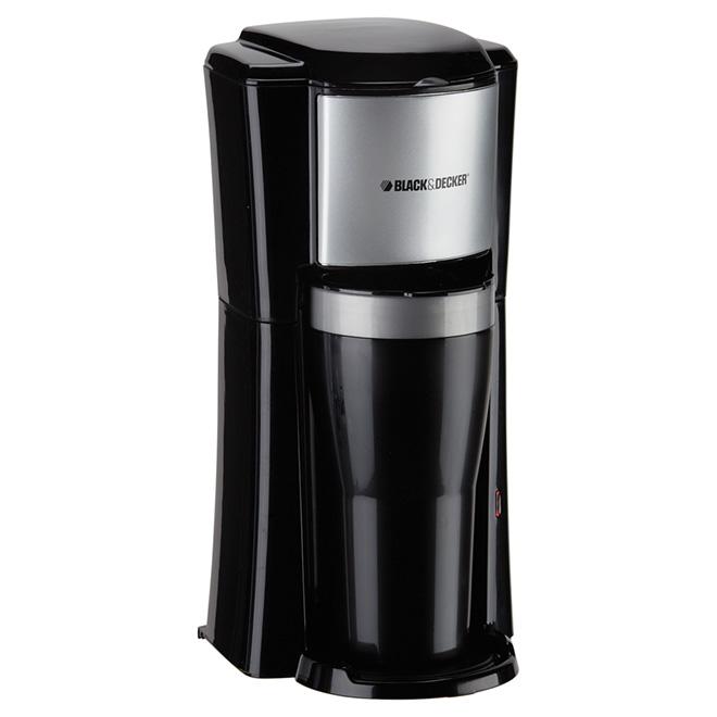 Cafetière une tasse, tasse de voyage, filtre/capsules, 16 oz