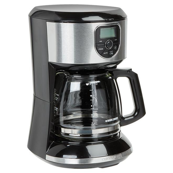 Cafetière programmable, panier filtre/carafe, 12 tasses