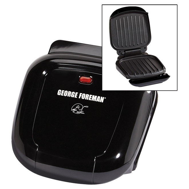 "Classic-Plate Indoor Grill - 2 Servings - 36"" - Black"