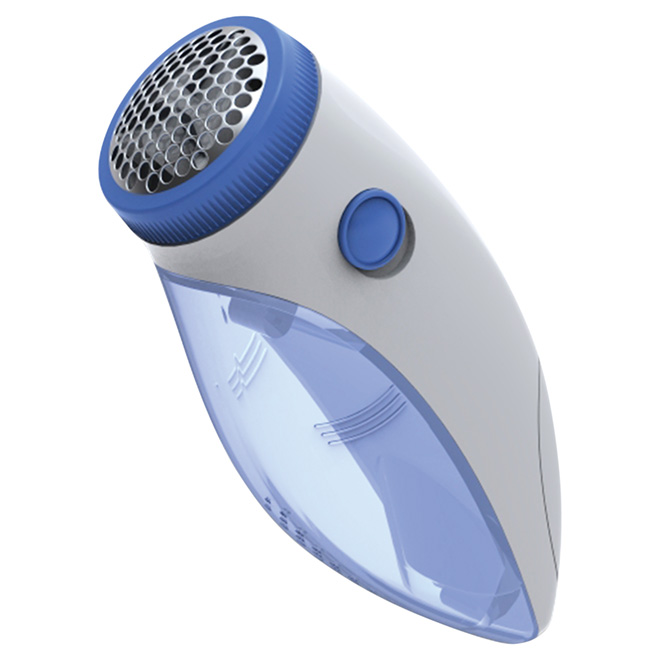 Battery Clothing Shaver - White and Blue