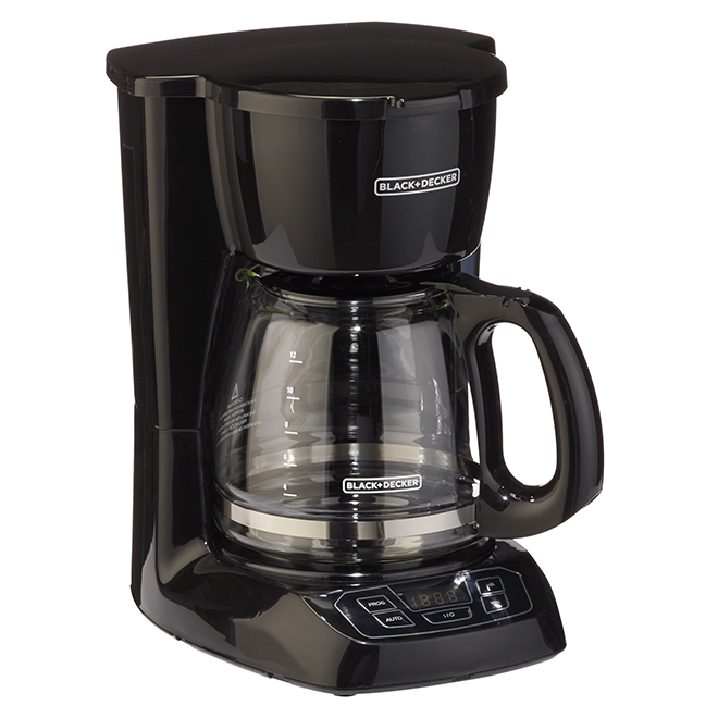 Black & Decker Programmable Coffemaker - 12 Cup - Black