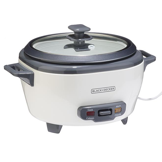 Black & Decker Rice Cooker - 6 Cups - Black/White