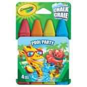 Craies lavables, modèle « Pool Party », boîte de 4 bâtons