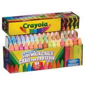 Washable Chalks - Assorted Colours - Pack of 64 Sticks