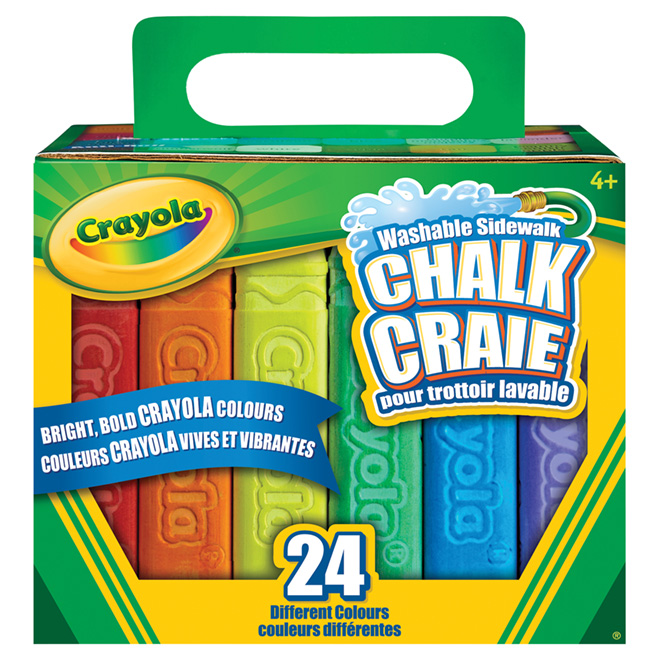Washable Chalks - Assorted Colours - Pack of 24 Sticks