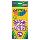 Crayola Coloured Pencils - Pre-Sharpened - 24 Pack