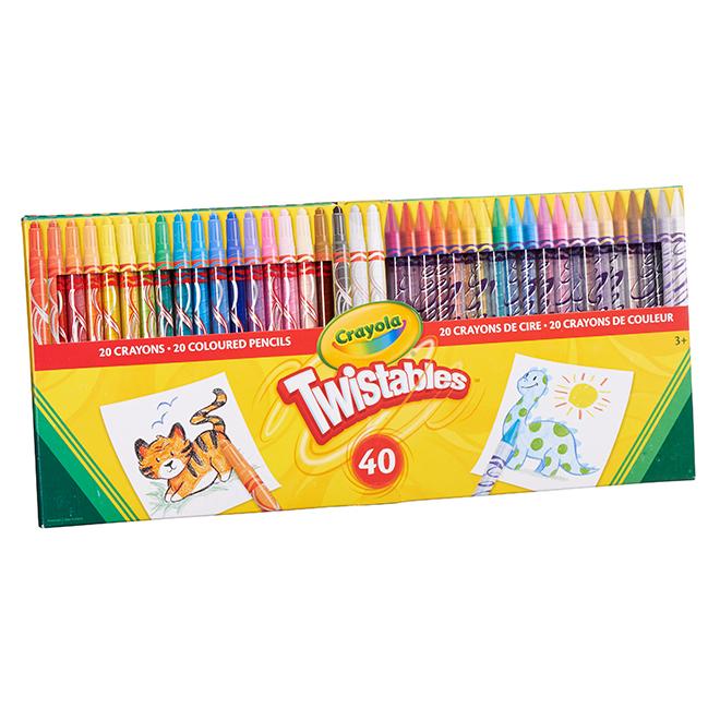 trousse de crayons de cire et de crayons de couleur pqt 40 rona. Black Bedroom Furniture Sets. Home Design Ideas