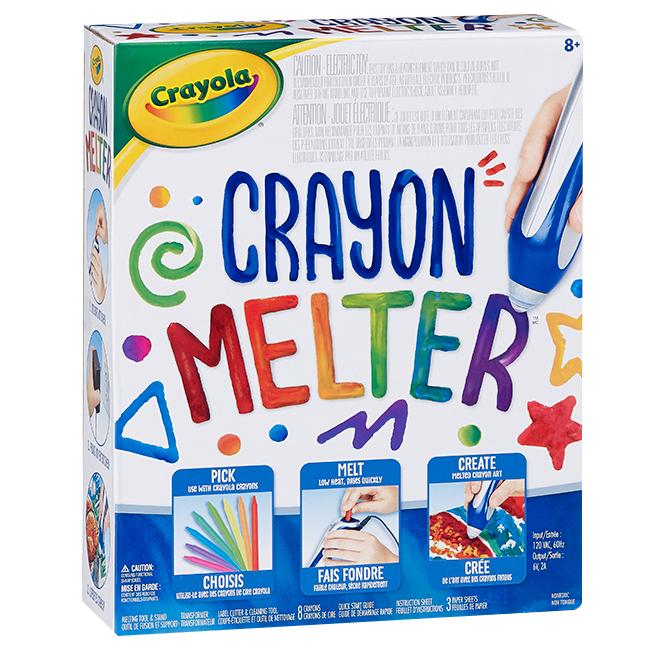 Crayon Melter(TM) - 8 Crayons - 3 Paper Sheets