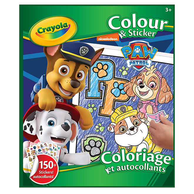 Paw Patrol Colouring Book with Stickers