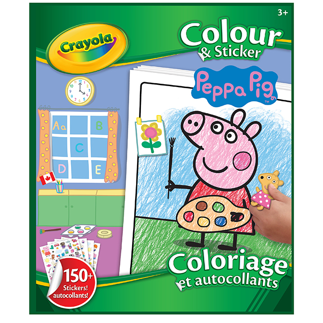 Crayola Peppa Pig Colouring Book with Stickers