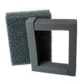 Foam Filter Pads Set - 2 Pieces - Black