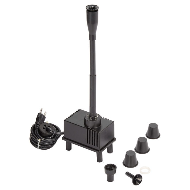 Garden Fountain Kit - 868 L/h Pump - Black