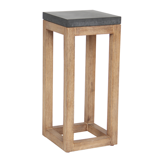 "Plant Stand - Fiber Cement and Wood - 21.65"" - Grey"