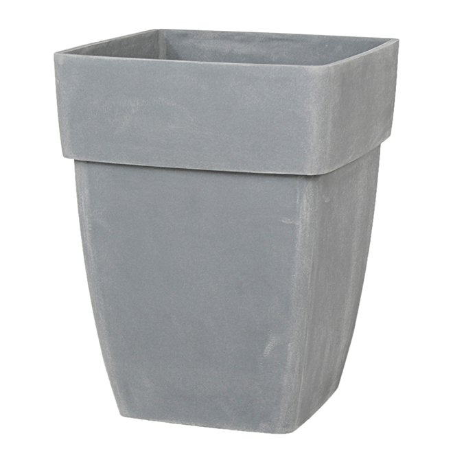 "Square Plastic Planter Pot - 14.5"" - Natural Grey"