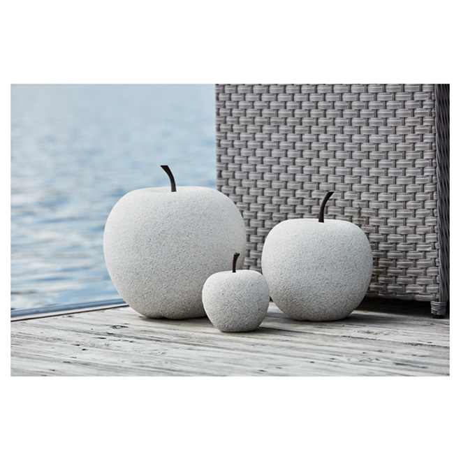 "Apple Garden Ornament - 14"" - White Stone"