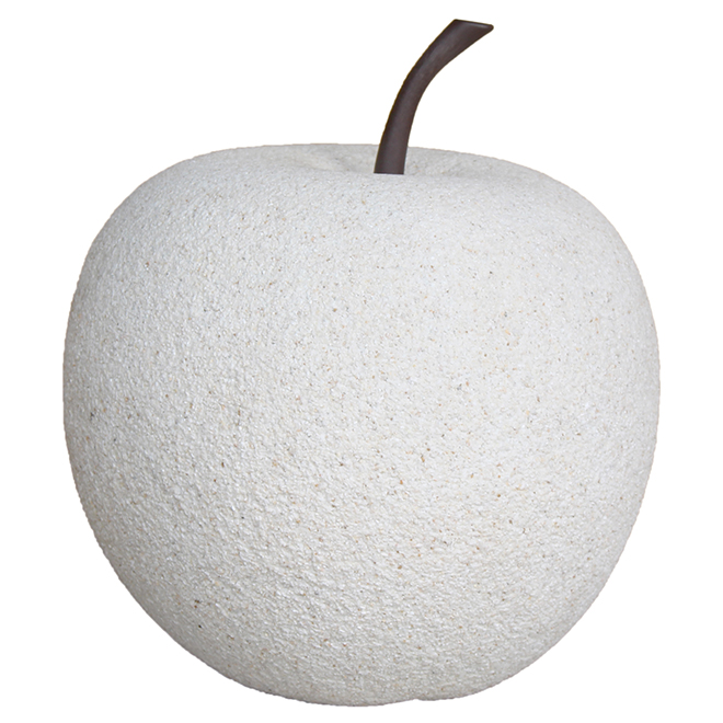 "Apple Garden Ornament - 11"" - White Stone"