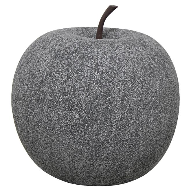 """Pomme décorative de jardin, 11"""", pierre noire"""