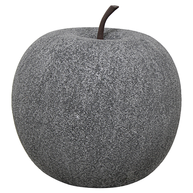 "Apple Garden Ornament - 11"" - Black Stone"