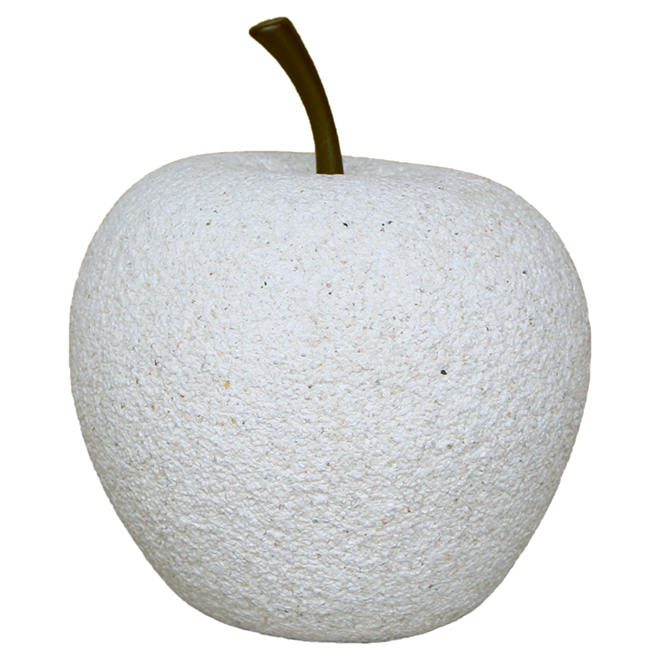 "Apple Garden Ornament - 6.75"" - White Stone"