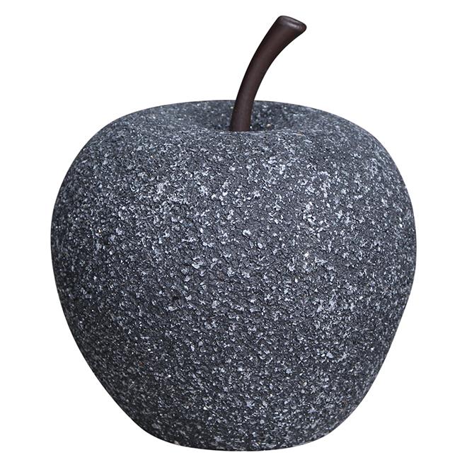 """Pomme décorative de jardin, 6,75"""", pierre noire"""