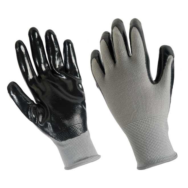 Men's Nitrile Coated Work Gloves - Grey/Black - L