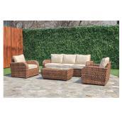 Ensemble conversation pour patio Boomer, brun, 5 places