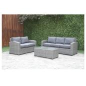 Patio Conversation Set - Wilder - Grey - 5 Places