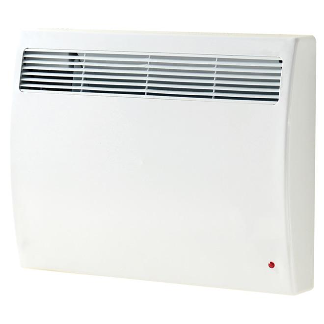 Convecteur mural silencieux, 1000 W, 240 V, 100 pi², blanc