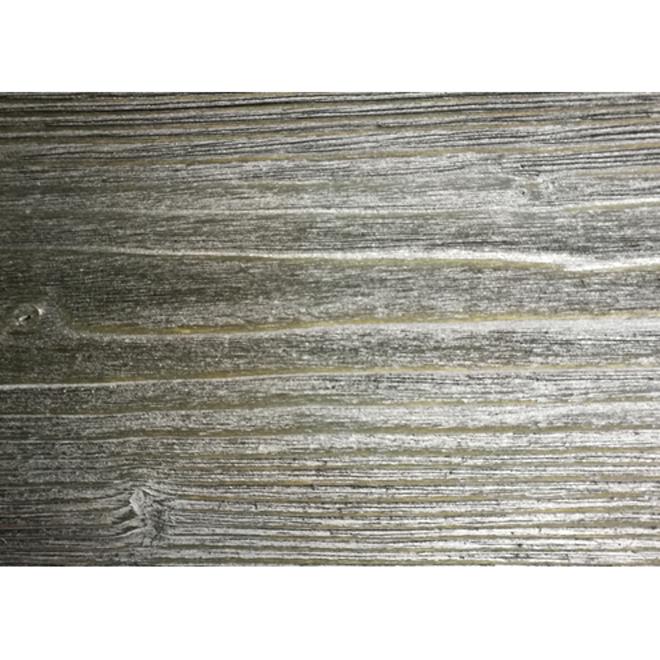 "Barn Look Wood Moulding - Grey - 1/2"" x 5"" x 8'"