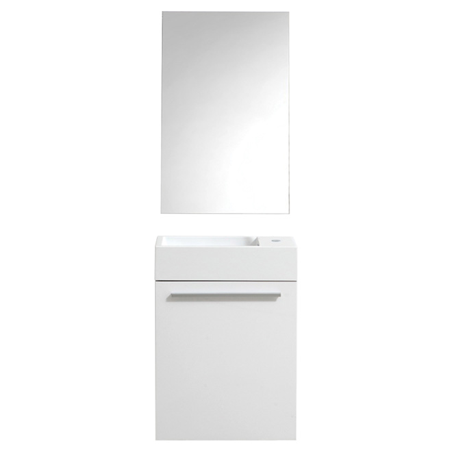 Vanity with 3 Drawers - High-Gloss White
