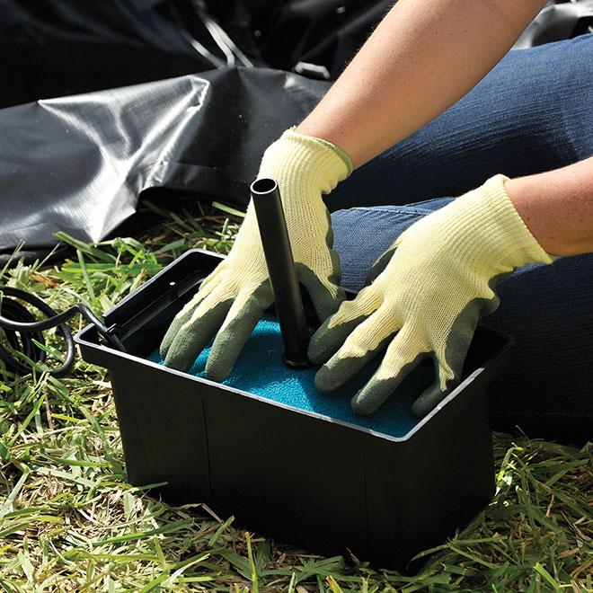 Mousse filtrante de remplacement, bleu/noir, 2/pqt