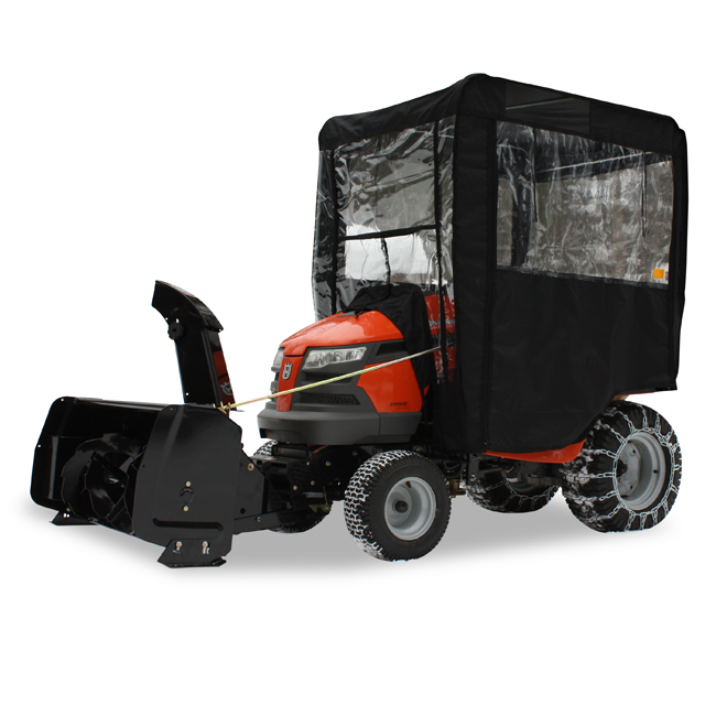 Winter Cab for Garden Tractor - Black
