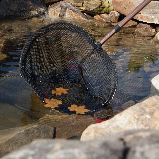 """Filet à poissons pour bassin artificiel, télescopique, 62"""""""