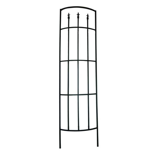 Garden Accents Fleur de Lys - Steel Tube - 24 x 80-in - Black