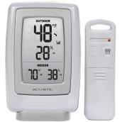 Indoor and Outdoor Wireless Thermometer - White