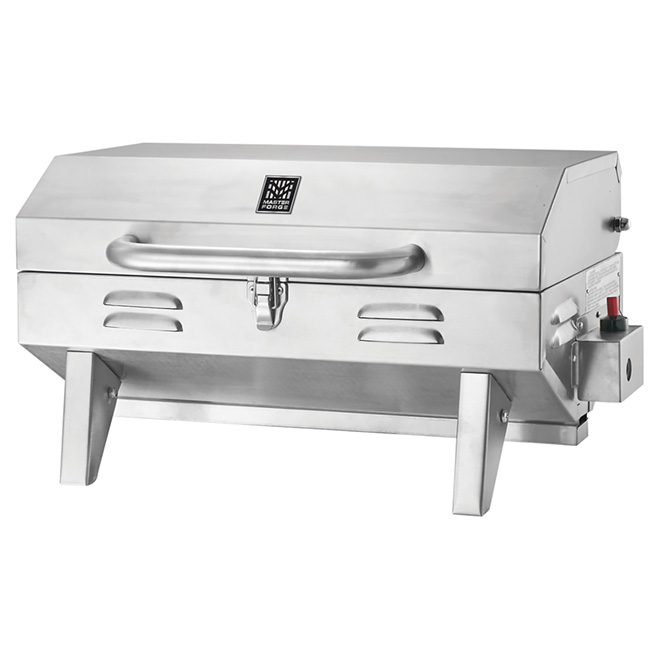 Propane Gas BBQ - Portable - 198 sq. in. - 12,000 BTU - Stainless Steel