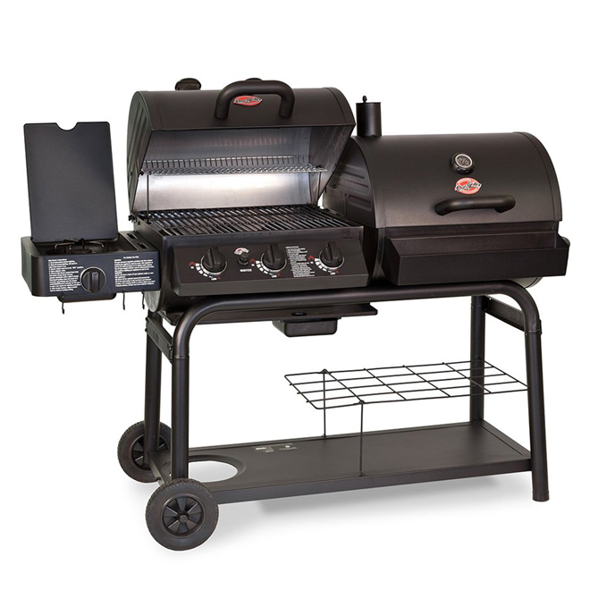 Duo(TM) 5050 Charcoal/Propane BBQ - 52,800 BTU - 1,260 sq. in. - Black Stainless Steel
