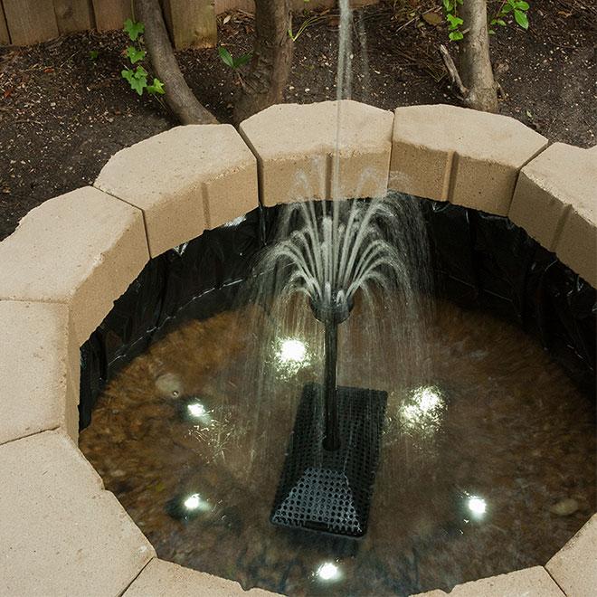 Projecteur miniature pour bassin artificiel, noir, 6/pqt