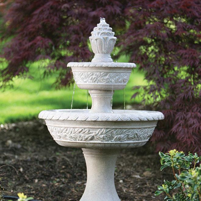 """Pompe pour fontaine de 5', raccord de 1/2"""" ou 3/4"""", 300 GPH"""