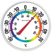 Thermometer - Round - White - 12.5