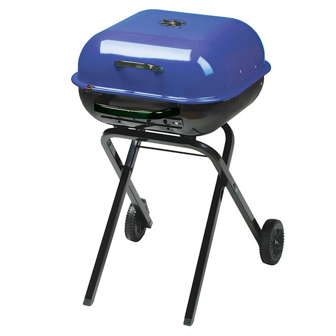 Barbecue portatif au charbon, 332 po², bleu