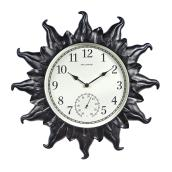 Outdoor or Indoor Clock with Encased Thermometer - 18