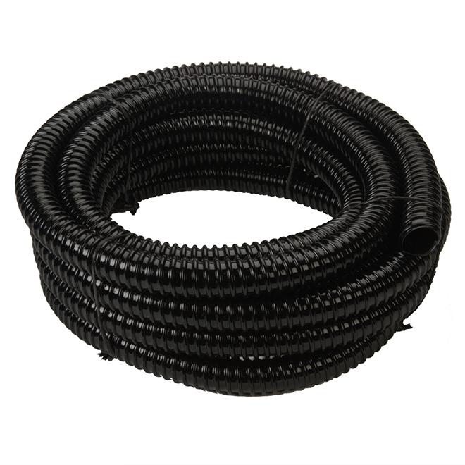 "Tubing for Artificial Pond - Plastic - 1 1/2"" x 20' - Black"